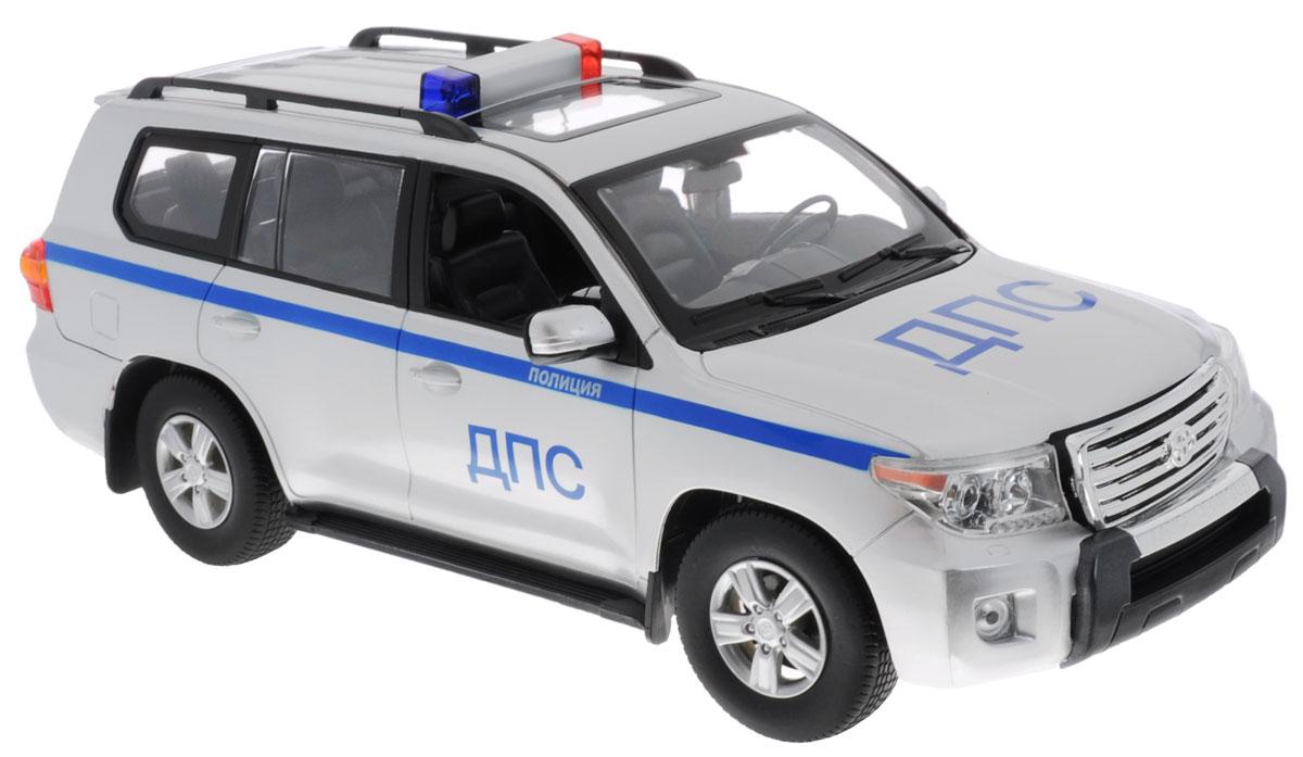 Rastar Радиоуправляемая модель Toyota Land Cruiser ДПС50200-51Все дети хотят иметь в наборе своих игрушек ослепительные и невероятные машинки на радиоуправлении. Тем более если это машинки с мировым именем, с проработкой всех деталей, удивляющие приятным качеством и видом. Радиоуправляемая модель Rastar Toyota Land Cruiser ДПС обладает неповторимым стилем и спортивным характером. А серьезные габариты придают реалистичность в управлении. Машина отличается потрясающей маневренностью, динамикой и покладистостью. Это точная копия настоящего авто в масштабе 1:16. Возможные движения: вперед-назад, вправо-влево, остановка. Имеются световые и звуковые эффекты. Пульт управления работает на частоте 40 MHz. Для работы игрушки необходимы 5 батареек типа АА (не входят в комплект). Для работы пульта управления необходима 1 батарейка 9V (не входит в комплект).
