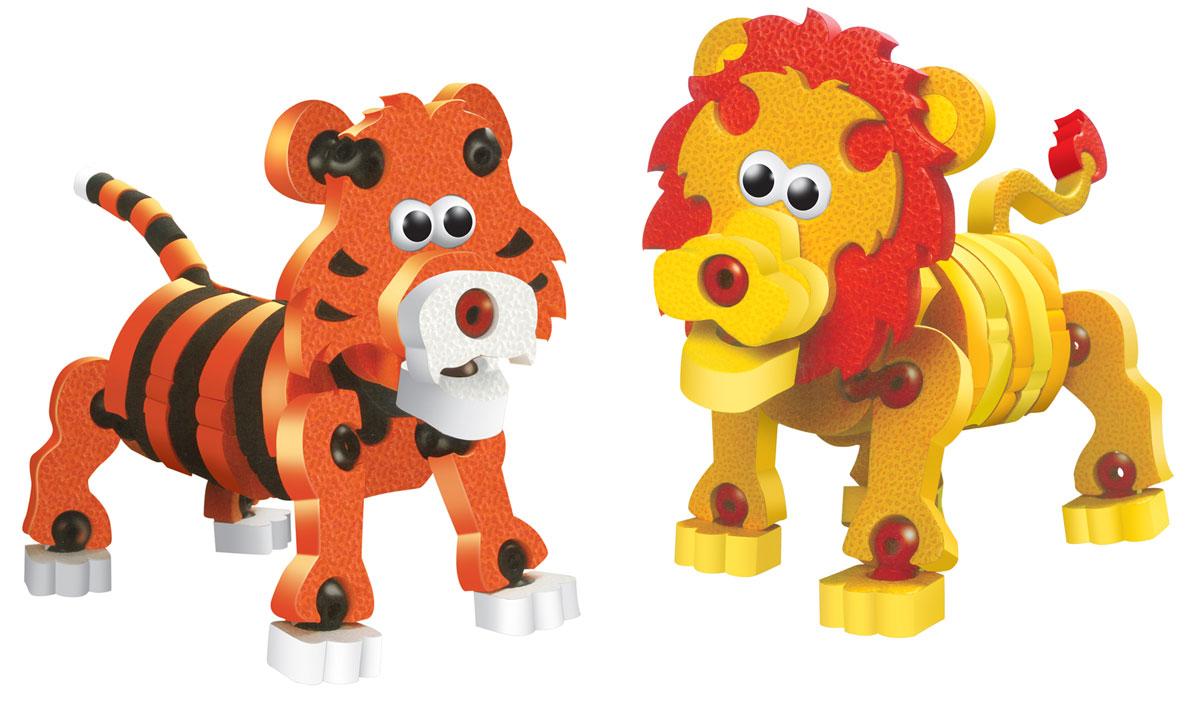 Bebelot 3D мягкий конструктор Тигры и львыBEB0706-018Мягкий конструктор Bebelot Тигры и львы привлечет внимание вашего ребенка и не позволит ему скучать. Конструктор состоит из 335 деталей, собрав которые, ребенок получит забавных и объемных зверей в виде тигра и льва. Разноцветные детали с легкостью надежно крепятся друг к другу за счет специальных крепежей и выступов. Размер составных элементов конструктора очень удобен для того, чтобы ребенку было комфортно в него играть. Собирая конструктор, ребенок разовьет внимание, воображение, мелкую моторику рук, пространственное и логическое мышление, а собранная своими руками игрушка будет для него гораздо дороже, чем готовая - ведь он вложил в нее свой драгоценный труд.