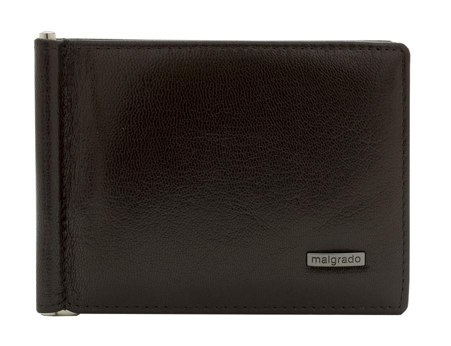 Зажим для купюр Malgrado, цвет: черный. 33007-55D33007-55D BlackЗажим для купюр Malgrado выполнен из высококачественной натуральной кожи с зернистой фактурой, оформлен металлической фурнитурой с символикой бренда. Портмоне раскладывается, закрывается на кнопку. Внутри изделия расположены зажим для купюр, два потайных кармашка, восемь карманов для кредитных карт. Снаружи, на задней стороне изделия, расположен карман для мелочи, который закрывается на кнопку. Зажим для купюр упакован в коробку из плотного картона с логотипом фирмы. Этот практичный зажим для купюр непременно подойдет к вашему образу и порадует простотой, стилем и функциональностью.