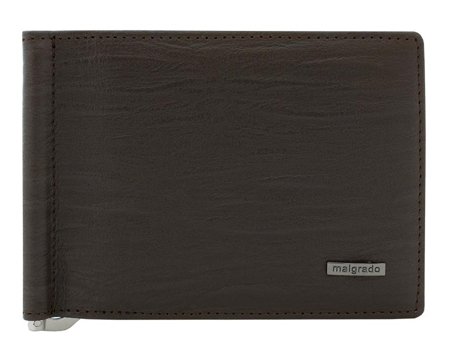 Зажим для купюр Malgrado, цвет: коричневый. 32006-3-5260132006-3-52601 BrownЗажим для купюр Malgrado выполнен из высококачественной натуральной кожи, оформлен металлической фурнитурой с символикой бренда. Изделие раскладывается, внутри расположены шесть карманов для кредитных карт, два потайных кармана и зажим для купюр. Зажим для купюр поставляется в фирменной упаковке. Оригинальный аксессуар Malgrado станет отличным подарком для человека, ценящего качественные и практичные вещи.
