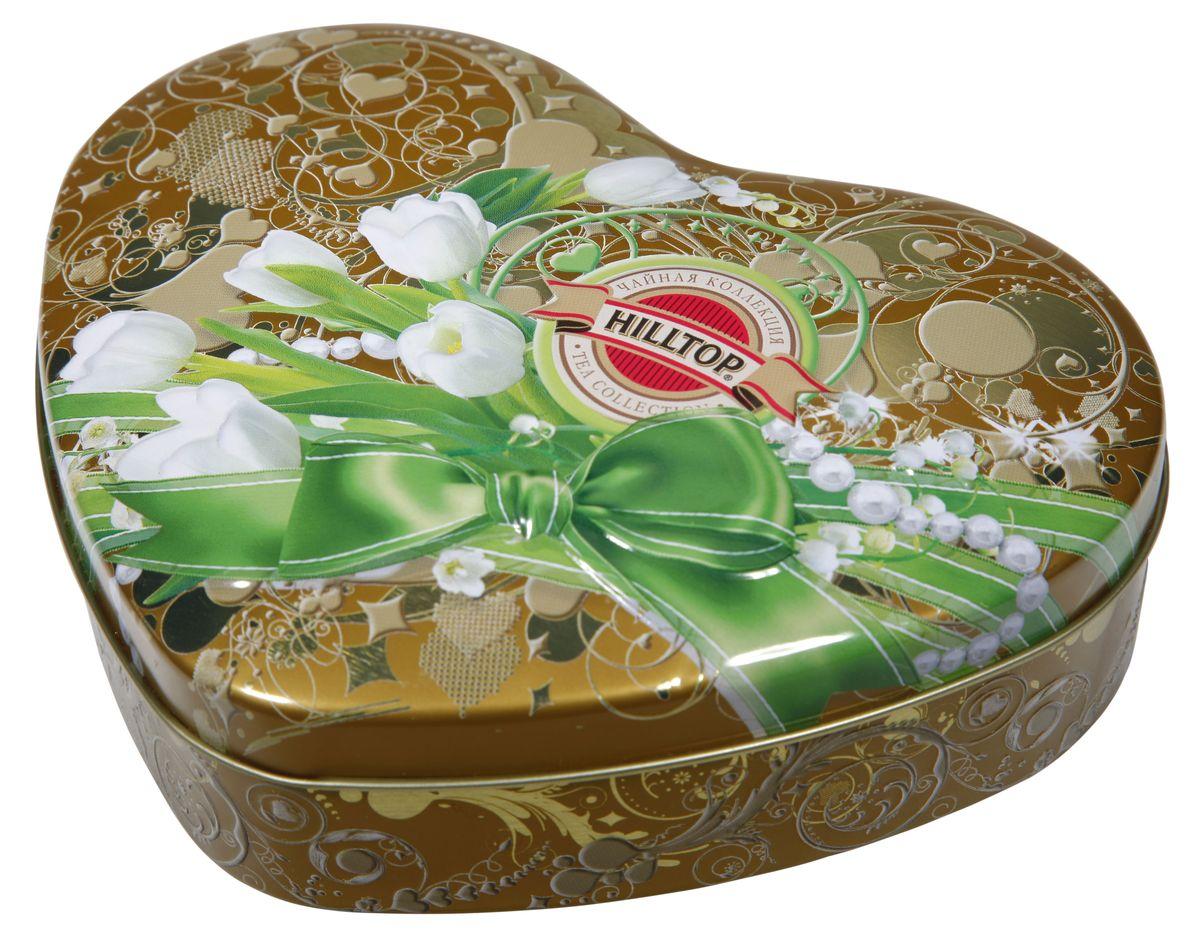Hilltop Белые тюльпаны Королевское золото черный листовой чай, 100 г4607099302150Hilltop Белые тюльпаны Королевское золото - черный чай стандарта Супер Пеко с лучших плантаций Цейлона. Выращен в экологически чистой зоне. Настой с глубоким золотистым цветом.