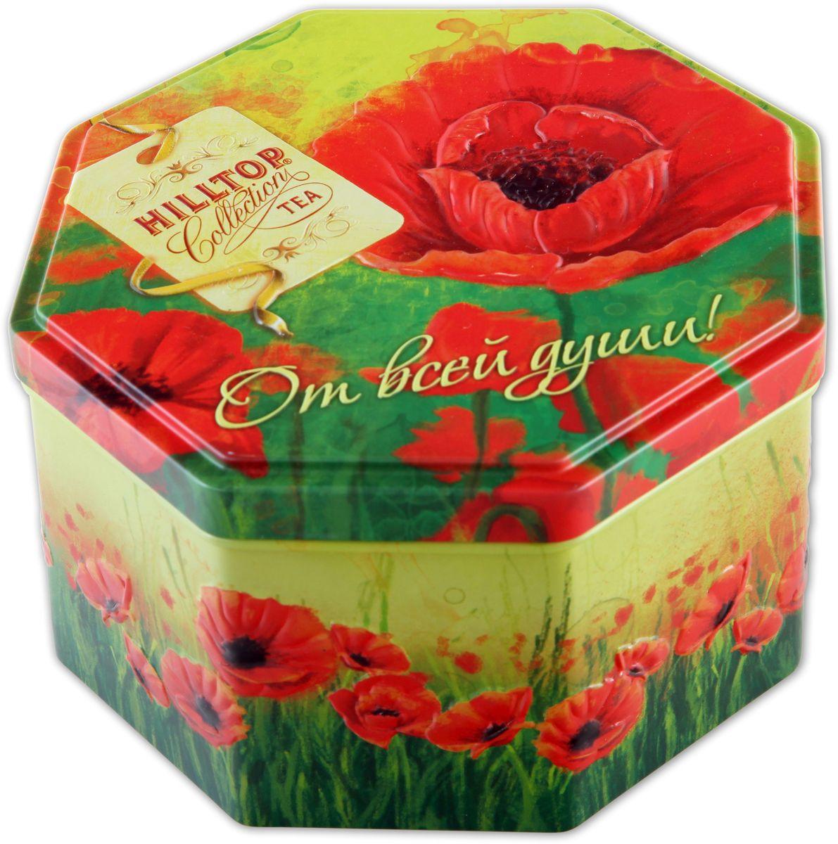Hilltop Подарок Цейлона. Маков цвет черный листовой чай, 150 г4607099303171Hilltop Подарок Цейлона Маков цвет - крупнолистовой цейлонский черный чай с глубоким, насыщенным вкусом и изумительным ароматом.