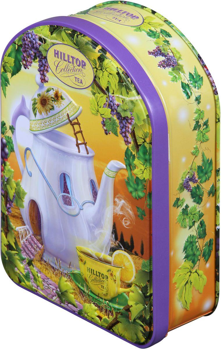 Hilltop Веселый чайник Подарок Цейлона черный листовой чай, 100 г4607099304789Hilltop Веселый чайник Подарок Цейлона - крупнолистовой цейлонский черный чай с глубоким, насыщенным вкусом и изумительным ароматом. Благодаря красивой праздничной упаковке вы можете подарить этот прекрасный чай своим друзьям и близким.
