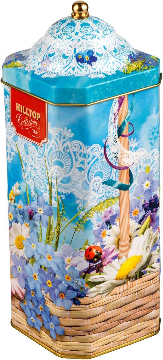 Hilltop Весенняя акварель. Цейлонский бриз черный листовой чай, 125 г4607099306233Hilltop Цейлонский бриз - крупнолистовой черный байховый чай с легкой терпкой нотой и янтарным цветом. Настой с изумительным ароматом послужит великолепным дополнением к праздничному столу, а благодаря красивой праздничной упаковке вы можете подарить этот прекрасный чай своим друзьям и близким.