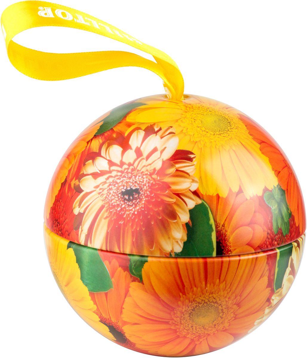 Hilltop Солнечные цветы. Цитрусовая фантазия черный листовой чай, 80 г4607099306394Hilltop Солнечные цветы. Цитрусовая фантазия– черный чай с благоухающим ароматом апельсинового масла, дополненного календулой и васильком в сочетании с тонкими нотами лемонграсса и шиповника. Такой чай станет отличным подарком для друзей и близких.