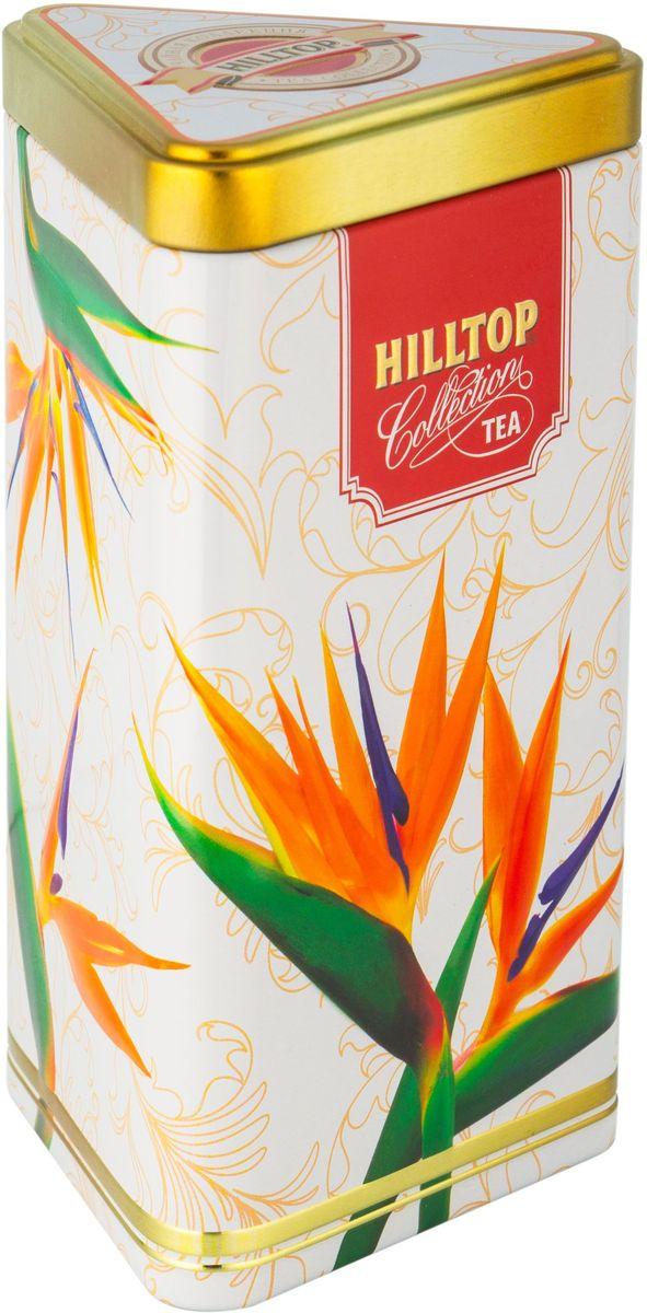 Hilltop Цветы Цейлона. Подарок Цейлона черный листовой чай, 80 г4607099306646Hilltop Цветы Цейлона. Подарок Цейлона - крупнолистовой цейлонский черный чай с глубоким, насыщенным вкусом и изумительным ароматом. Поставляется в треугольной банке с крышкой.
