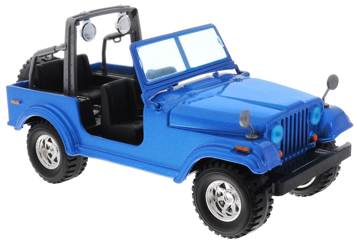 Bburago Модель автомобиля Jeep Wrangler18-22033Модель автомобиля Bburago Jeep Wrangler привлечет к себе внимание не только детей, но и взрослых. Модель представлена в масштабе 1:24 и в точности воспроизводит все детали внешнего облика реального автомобиля Jeep Wrangler. Корпус автомобиля выполнен из металла с использованием пластиковых элементов, колеса прорезинены. Модель оборудована подвижными колесами. Во время игры с такой машинкой у ребенка развивается мелкая моторика рук, фантазия и воображение. Порадуйте своего ребенка таким замечательным подарком!