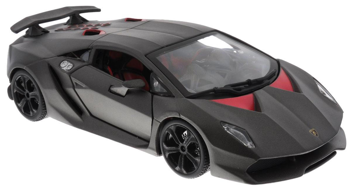 Bburago Модель автомобиля Lamborghini Sesto Elemento18-21061Модель автомобиля Bburago Lamborghini Sesto Elemento предназначена для тех, кто любит роскошь и высокие скорости. Привлечет к себе внимание не только детей, но и взрослых. Модель представлена в масштабе 1:24 и в точности воспроизводит все детали внешнего облика реального автомобиля. Корпус автомобиля выполнен из металла с использованием пластиковых элементов, колеса прорезинены. Модель оборудована открывающимися дверцами и подвижными колесами. Во время игры с такой машинкой у ребенка развивается мелкая моторика рук, фантазия и воображение. Ваш ребенок будет в восторге от такого подарка!