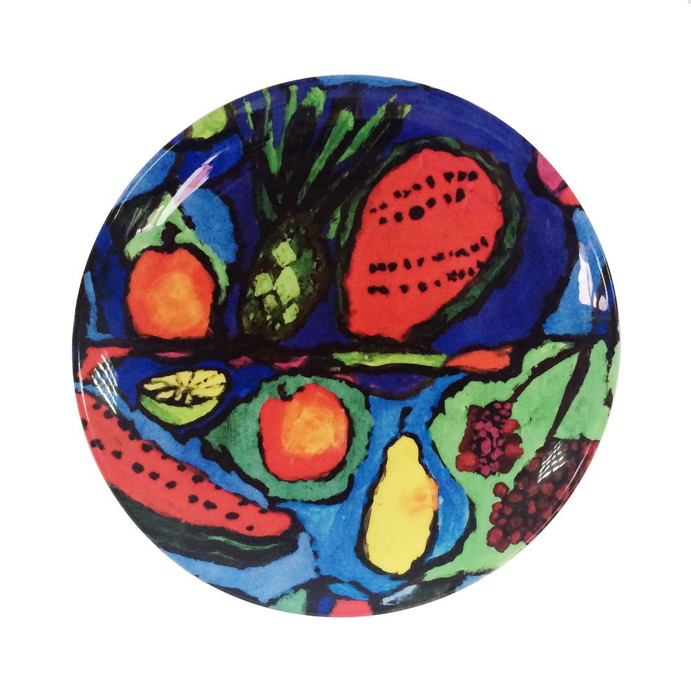 Тарелка c рисунком Фрукты10133Тарелка c рисунком Фрукты Рисунок Михаила Кузнецова
