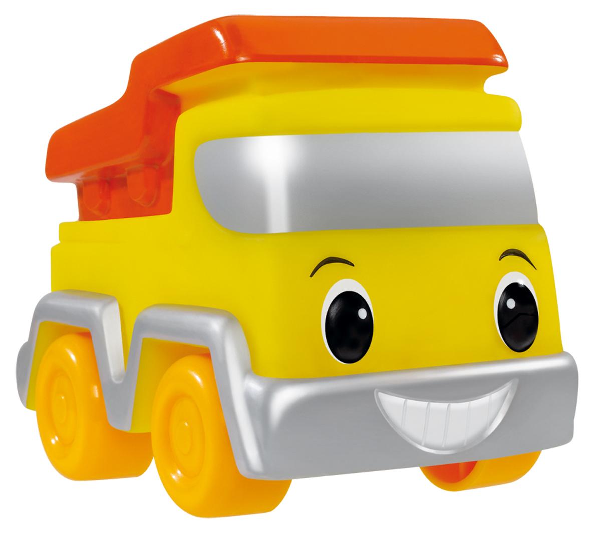 Simba Машинка цвет желтый оранжевый4019687_оранжевыйМашинка Simba обязательно понравится вашему маленькому гонщику и надолго увлечет его. Игрушка выполнена из безопасного гибкого пластика в виде грузовика. Колесики выполнены из твердого пластика. Машинка имеет обтекаемую форму без острых углов, благодаря чему игра с ней совершенно безопасна для ребенка. Также игрушка имеет отверстие снизу, благодаря чему играть с ней можно и в ванной. Игры с такой машинкой развивают концентрацию внимания, координацию движений, мелкую и крупную моторику, цветовое восприятие и воображение. Малыш будет часами играть с этой машинкой, придумывая разные истории. Порадуйте своего ребенка таким замечательным подарком!