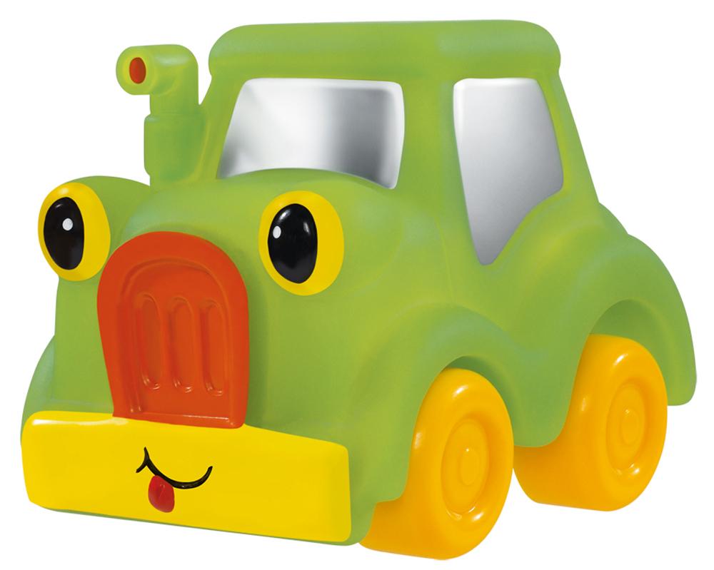 Simba Машинка цвет зеленый желтый4019687_зеленыйМашинка Simba обязательно понравится вашему маленькому гонщику и надолго увлечет его. Игрушка выполнена из безопасного гибкого пластика в виде легкового автомобиля. Колесики выполнены из твердого пластика. Машинка имеет обтекаемую форму без острых углов, благодаря чему игра с ней совершенно безопасна для ребенка. Также игрушка имеет отверстие снизу, благодаря чему играть с ней можно и в ванной. Игры с такой машинкой развивают концентрацию внимания, координацию движений, мелкую и крупную моторику, цветовое восприятие и воображение. Малыш будет часами играть с этой машинкой, придумывая разные истории. Порадуйте своего ребенка таким замечательным подарком!