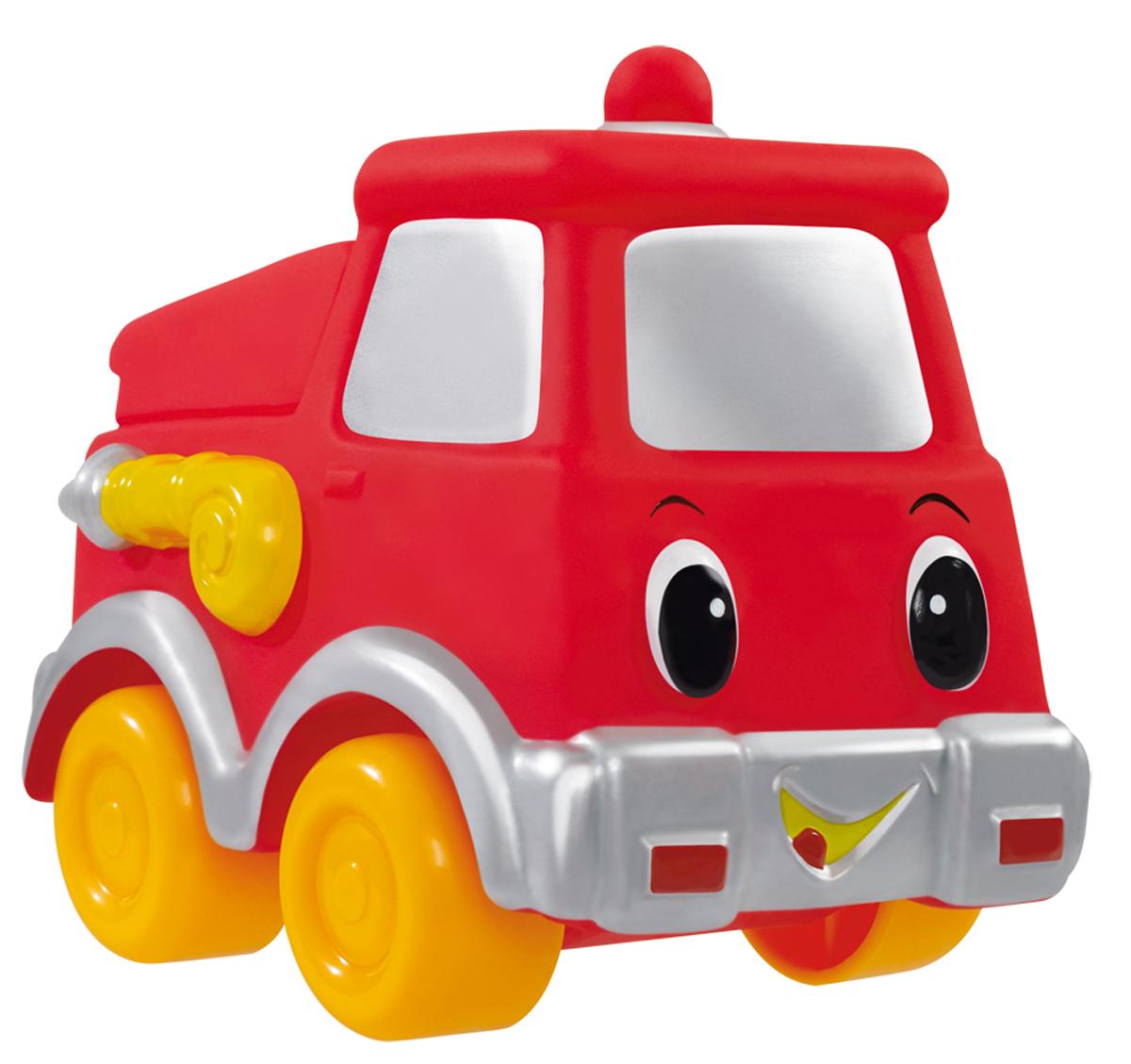 Simba Машинка цвет красный4019687_красныйМашинка Simba обязательно понравится вашему маленькому гонщику и надолго увлечет его. Игрушка выполнена из безопасного гибкого пластика в виде пожарной машины. Колесики выполнены из твердого пластика. Машинка имеет обтекаемую форму без острых углов, благодаря чему игра с ней совершенно безопасна для ребенка. Также игрушка имеет отверстие снизу, благодаря чему играть с ней можно и в ванной. Игры с такой машинкой развивают концентрацию внимания, координацию движений, мелкую и крупную моторику, цветовое восприятие и воображение. Малыш будет часами играть с этой машинкой, придумывая разные истории. Порадуйте своего ребенка таким замечательным подарком!
