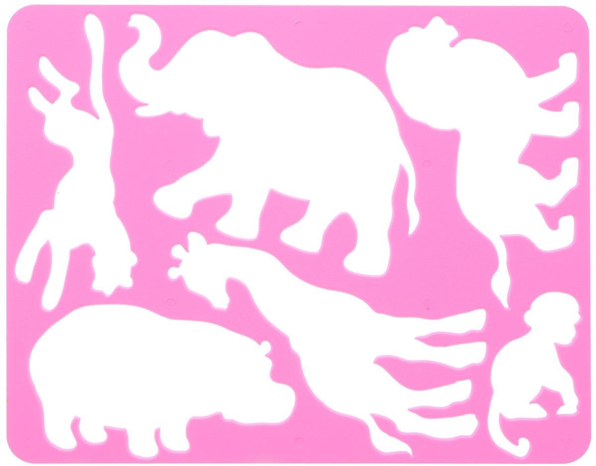 Луч Трафарет прорезной Животные Африки цвет розовый9С 486-08Трафарет Луч Животные Африки, выполненный из безопасного пластика, предназначен для детского творчества. По трафарету маленькие художники смогут нарисовать и отдельных животных, и сюжетные картинки. Для этого необходимо положить трафарет на лист бумаги, обвести фигуру по контуру и раскрасить по своему вкусу или глядя на цветную картинку-образец. Трафареты предназначены для развития у детей мелкой моторики и зрительно-двигательной координации, навыков художественной композиции и зрительного восприятия.