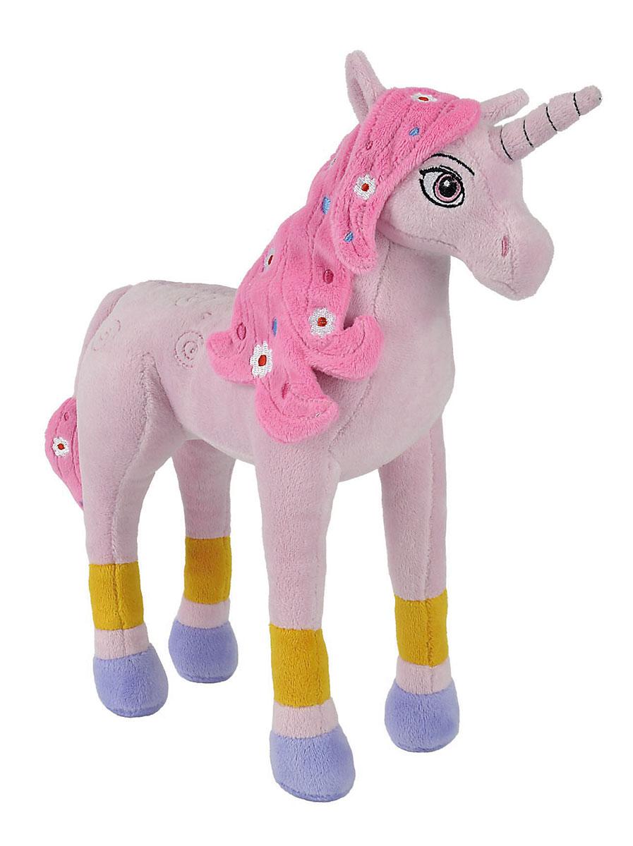Simba Мягкая игрушка Единорог Lyria 30 см9487711Мягкая игрушка Mia and Me Единорог Lyria станет чудесным подарком вашему малышу! Игрушка изготовлена из высококачественного гипоаллергенного материала, который абсолютно безвреден для ребенка. Розовый единорог с вышитыми глазками и гривой в цветочек может самостоятельно стоять на ногах. Игрушка имеет металлический каркас, благодаря чему, ножки единорога можно сгибать, придавая разные позы. Игрушка, созданная по мотивам мультфильма Mia and Me, украсит любую детскую комнату и принесет радость и веселье во время игр. Мягкая игрушка Единорог Lyria поможет развить тактильные навыки, зрительную координацию, воображение и мелкую моторику рук. Порадуйте своего ребенка таким замечательным подарком!