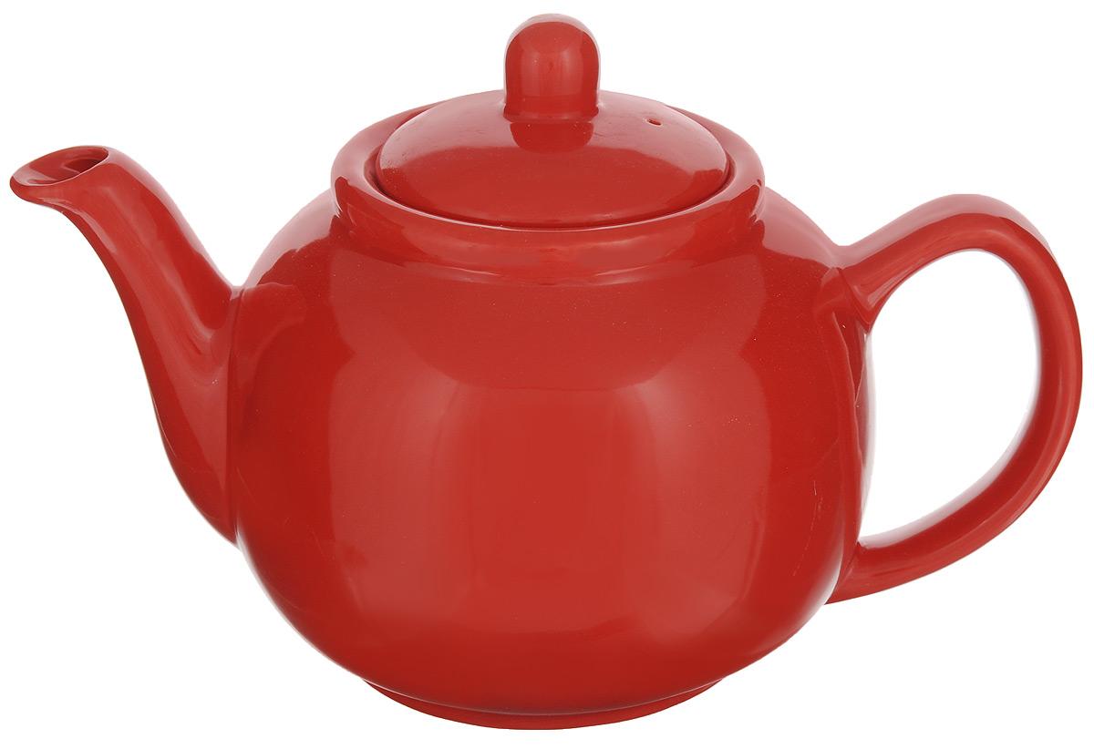 Чайник заварочный Loraine, цвет: красный, 940 мл24870Заварочный чайник Loraine изготовлен из высококачественной доломитовой керамики высокого качества без примеси ПФОК. Глазурованное покрытие делает поверхность абсолютно гладкой и легкой для чистки. Изделие прекрасно подходит для заваривания вкусного и ароматного чая, травяных настоев. Оригинальный дизайн сделает чайник настоящим украшением стола. Он удобен в использовании и понравится каждому. Диаметр чайника (по верхнему краю): 9 см. Высота чайника (без учета крышки): 11 см.