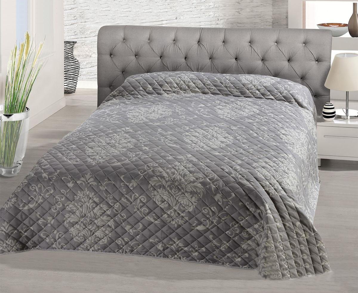 Покрывало Schaefer, цвет: серый, светло-серый, 220 х 240 см07580-196Стеганое покрывало Schaefer с красивым орнаментом прекрасно дополнит интерьер спальни. Покрывало выполнено из высококачественного полиэстера, который отличается мягкостью и необычайной шелковистостью. Модный рисунок, современные цветовые сочетания, гладкая приятная ткань делают покрывало прекрасным украшением интерьера.