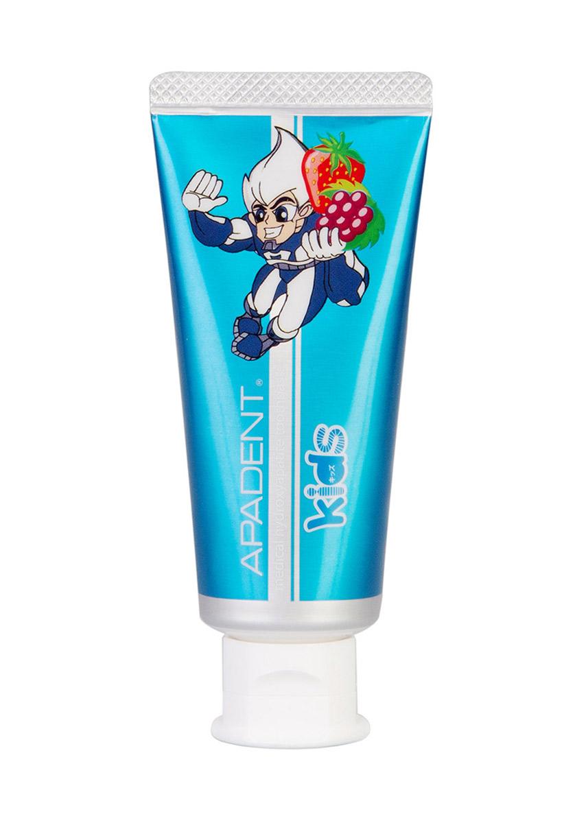 Apadent Детская реминерализующая зубная паста Kids, 60 г00-00000220Зубная паста Apadent KIDS - премиальная японская противокариесная зубная паста с наночастицами медицинского гидроксиапатита (nano-mHAP) для детей • без SLS , фторидов, красителей • рекомендована для детей 0+ • Содержит новейшую научную разработку -nano-mHAP - основной поставщик кальция и фосфора, так необходимых для роста здоровых и крепких зубов у ребенка • nano-mHAP обеспечивает формирование крепкой и гладкой зубной эмали, лучшей естественной защиты от появления кариеса • Эффективно уничтожает кариес на ранних стадиях • Эффективно удаляет зубной налет и скапливающиеся в нем бактерии, защищая детские зубы от воздействия кислоты и образования зубного камня. Обеспечивает эффективную ежедневную гигиену полости рта ребенка • Восстанавливает микротрещины и микродефекты детской зубной эмали. Зубная паста c нано-гидроксиапатитом APADENT KIDS обладает приятным фруктовым вкусом и рекомендована для детей, начиная с рождения.