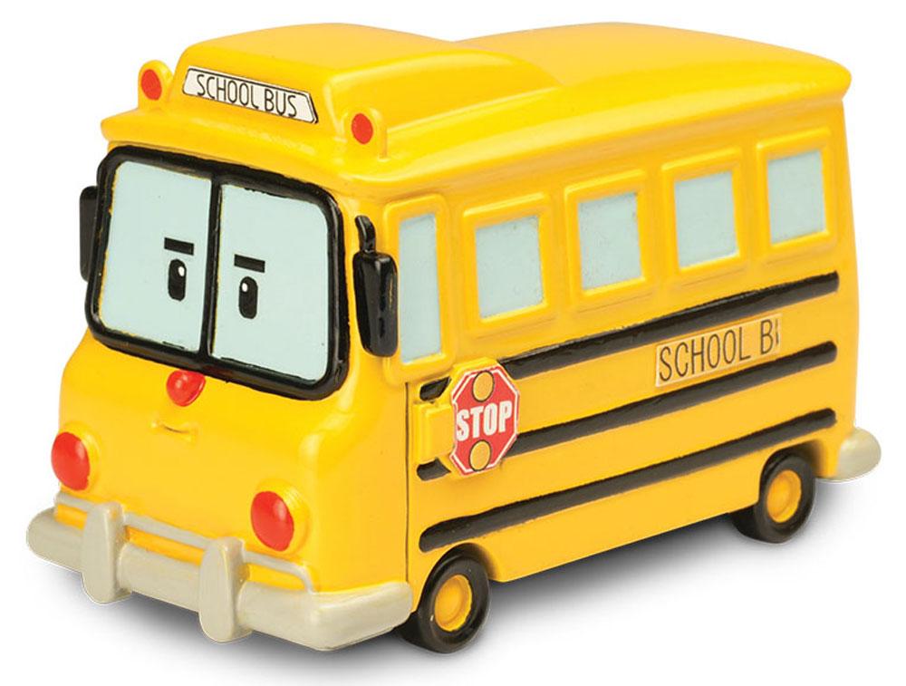 Robocar Poli Школьный автобус Скулби83174Яркая игрушка Poli Школьный автобус Скулби непременно понравится вашему малышу. Она выполнена из металла с элементами пластика в виде желтого школьного автобуса Скулби - персонажа популярного мультсериала Robocar Poli. Скулби оснащен колесиками со свободным ходом, позволяющими катать машинку. Благодаря небольшому размеру ребенок сможет взять игрушку с собой на прогулку, в поездку или в гости. Порадуйте своего малыша таким замечательным подарком!
