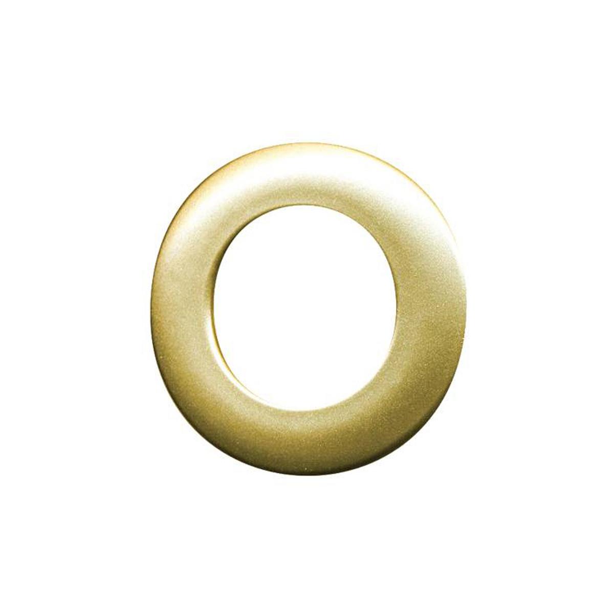 Набор люверсов Belladonna, цвет: золотой металлик, диаметр 35 мм, 10 шт515542Набор Belladonna состоит из 10 люверсов, выполненных из пластика. Люверсы представляют собой кольца особой формы, которые служат для окантовки отверстий в разных материалах. Используются в качестве фурнитуры для кожгалантерейных, текстильных, обувных изделий, также подходят для бумаги и картона. Через люверсы продеваются шнурки, ленты, тесьма. Изделия Belladonna помогут воплотить вашу творческую задумку и добавят вдохновения для новых идей. Внутренний диаметр: 35 мм.