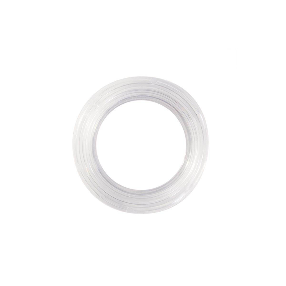 Набор люверсов Вельвет, цвет: прозрачный, диаметр 35 мм, 10 шт544088Набор Вельвет состоит из 10 люверсов, выполненных из пластика. Люверсы представляют собой кольца особой формы, которые служат для окантовки отверстий в разных материалах. Используются в качестве фурнитуры для кожгалантерейных, текстильных, обувных изделий, также подходят для бумаги и картона. Через люверсы продеваются шнурки, ленты, тесьма. Изделия Вельвет помогут воплотить вашу творческую задумку и добавят вдохновения для новых идей. Внутренний диаметр: 35 мм.