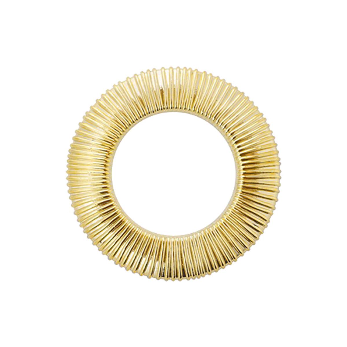 Набор люверсов Вельвет, цвет: золотистый, диаметр 35 мм, 10 шт580222Набор Вельвет состоит из 10 люверсов, выполненных из пластика. Люверсы представляют собой кольца особой формы, которые служат для окантовки отверстий в разных материалах. Используются в качестве фурнитуры для кожгалантерейных, текстильных, обувных изделий, также подходят для бумаги и картона. Через люверсы продеваются шнурки, ленты, тесьма. Изделия Вельвет помогут воплотить вашу творческую задумку и добавят вдохновения для новых идей. Внутренний диаметр: 35 мм.