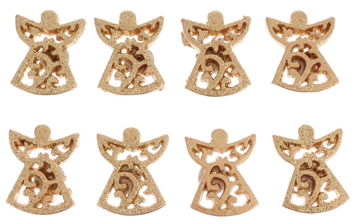 Набор декоративных украшений ScrapBerrys Позолоченные ангелы, 8 штSCB4420013Набор ScrapBerrys Позолоченные ангелы состоит из 8 декоративных украшений на клеевой подушечке для крепления. Изделия выполнены из пластика в виде ангелочков и декорированы блестками. Такой набор можно использовать как скрап-украшение, а также в декоре интерьера, новогодних подарков и открыток. Размер украшения: 2,5 х 3 х 0,2 см.