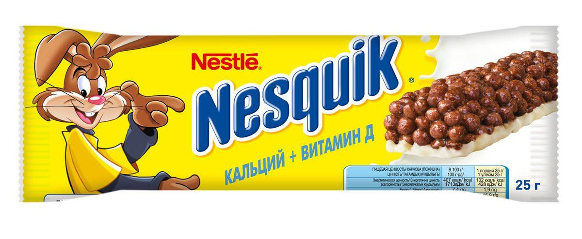 Nestle Nesquik шоколадный батончик с цельными злаками, 25 г