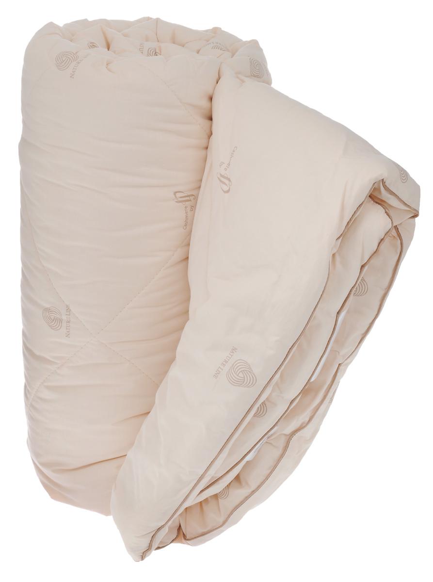 """Одеяло зимнее """"La Prima"""", наполнитель: кашемир, полиэфирное волокно, цвет: светло-бежевый, 170 х 205 см"""