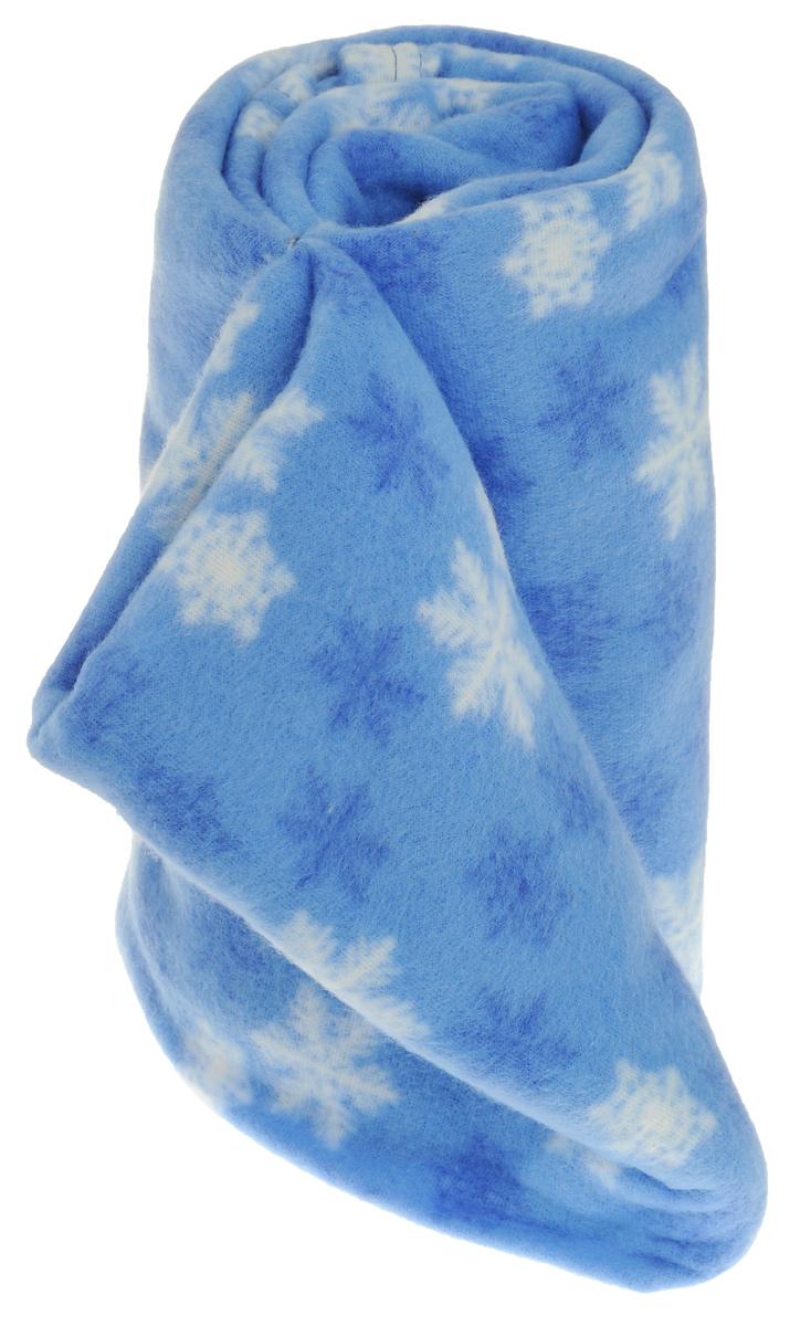 Плед флисовый Коллекция Снежинки, цвет: синий, 130 х 150 смОПЛФ-130*150/ССМягкий и уютный плед Коллекция Снежинки, выполненный из флиса, согреет в прохладные вечера и сделает обстановку дома праздничной и новогодней. Удобный большой размер этого очаровательного пледа позволит вам использовать его и как одеяло, и как покрывало для кресла или софы. Плед не скатывается и не вызывает аллергии, легко стирается и быстро сохнет. Плед хорошо впишется в интерьер вашей комнаты и создаст атмосферу гармонии и уюта. Пледом можно уютно укрыться дома или взять с собой в путешествие. Наслаждайтесь комфортом и уютом с пледом Снежинки, и пусть в вашем доме будет тепло!