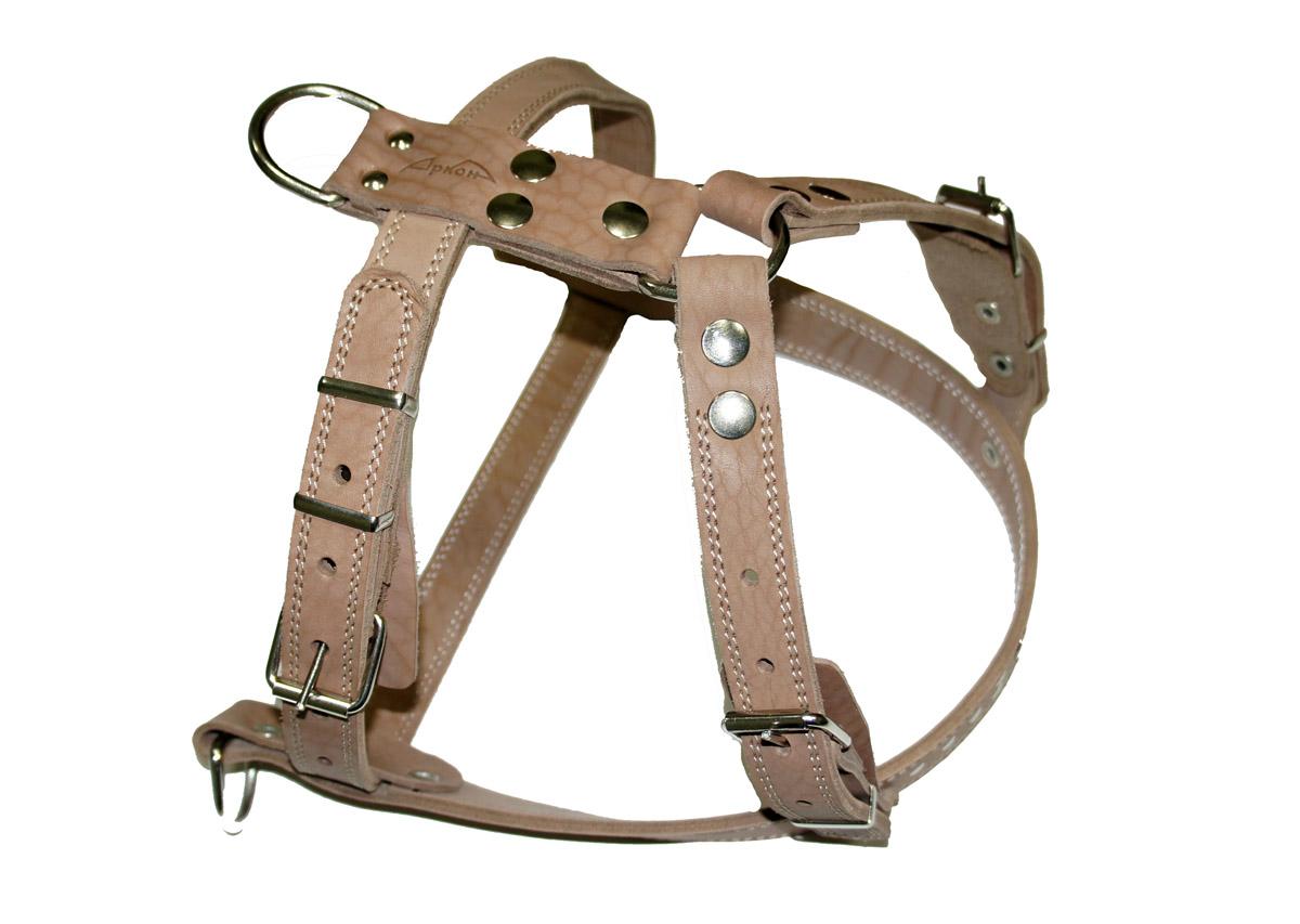 Шлея Аркон №3 ездовая. ш3еш3еШлейка - это альтернатива ошейнику. Правильно подобранная шлейка от компании «Аркон» не стесняет движения собаки, не натирает кожу, поэтому животное чувствует себя в ней уверенно и комфортно.