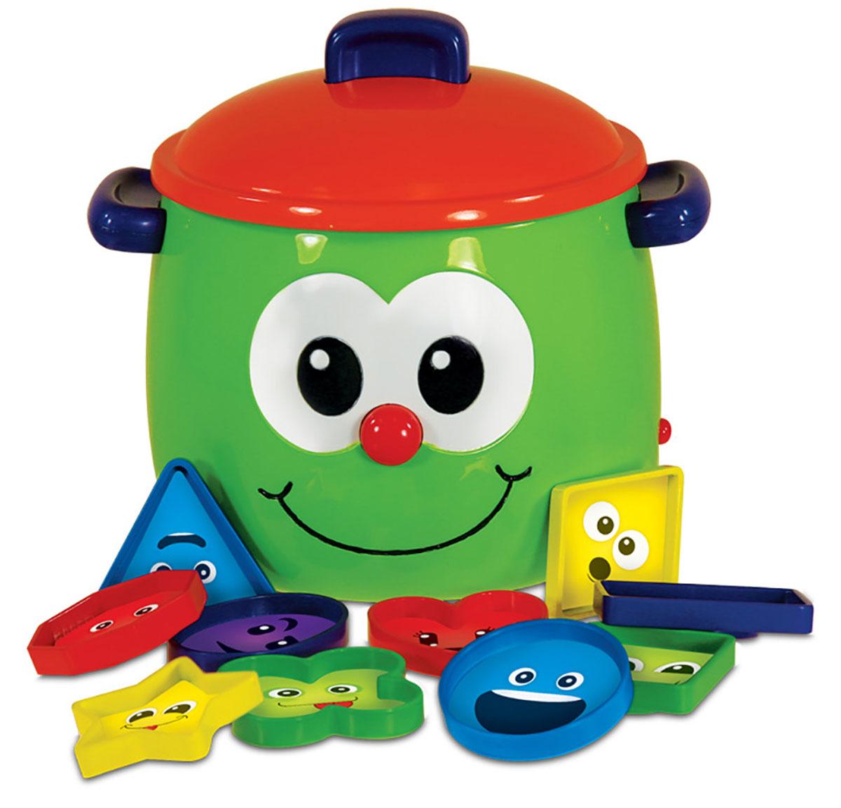 Learning Journey Развивающая игрушка Забавный горшочек208410Развивающая игрушка Learning Journey Забавный горшочек - это веселая и полезная игрушка для малыша. Благодаря ей малыш легко выучит цвета и формы! Игрушка выполнена из яркого пластика в виде горшочка с забавной улыбающейся мордочкой. Класть формочки внутрь говорящего горшочка-баночки и доставать их оттуда - веселый способ для малыша узнать цвета и познакомиться с формами. Два режима игры: Давай изучать формы и Найди правильную форму помогут в этом! Задача игры - складывать в горшочек фигурки, и он их будет называть, воспроизводя интересные звуковые и световые эффекты. На фигурках изображены мордочки разных цветов и форм. Ваш ребенок легко подружится с этой интересной игрушкой. У горшочка предусмотрена функция автоматического отключения. Игры с такой игрушкой развивают мелкую моторику, воображение, звуковое и цветовое восприятие малыша. Ваш малыш обязательно полюбит Забавный горшочек, он позволит ему весело и с пользой провести время и сделает обучение...