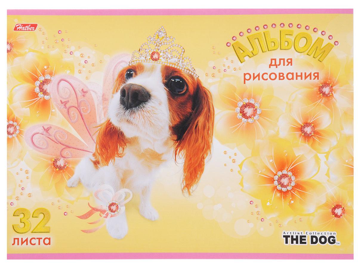 Hatber Альбом для рисования The Dog 32 листа цвет желтый32А4блB_12186Альбом для рисования Hatber The Dog порадует маленького художника и вдохновит его на творчество. Альбом изготовлен из белоснежной бумаги с яркой обложкой из плотного картона, оформленной изображением собачки. Внутренний блок альбома, соединенный металлическими скрепками, состоит из 32 листов. Высокое качество бумаги позволяет рисовать в альбоме карандашами, фломастерами, акварельными и гуашевыми красками.