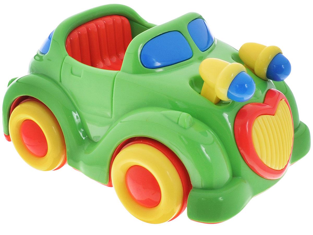 Simba Машинка инерционная цвет зеленый4015832_зеленая машинкаЯркая машинка Simba привлечет внимание вашего малыша и не позволит ему скучать. Выполнен изделие из безопасного и прочного пластика. Округлые без острых углов формы гарантируют безопасность даже самым маленьким. Для запуска, установите игрушку на поверхность, потяните назад и отпустите, игрушка продолжит движение. Инерционная игрушка Simba поможет ребенку в развитии воображения, мелкой моторики рук, концентрации внимания и цветового восприятия.