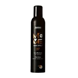 Dikson Move Спрей с эффектом шелкового блеска Me 27 Shine Effect 300 мл2127Идеальное средство для современного молодежного стайлинга. Обладает приятной шелковистой текстурой, легко наносится. Гель придает волосам роскошный блеск и подчеркивает загадочную игру цветовых переливов. Обладает термозащитой (фен, утюжок). Степень фиксации: 1