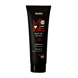 Dikson Move Гель-эффект мокрых волос Me 38 Light Gel 250 мл2138Идеальное средство для современного молодежного стайлинга. Обладает приятной шелковистой текстурой, легко наносится. Гель придает волосам роскошный блеск и подчеркивает загадочную игру цветовых переливов. Обладает термозащитой (фен, утюжок). Степень фиксации: 2