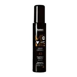 Dikson Move Сыворотка «Танцующие кристалы» Me 43 Dens Crystal 100 мл2143Создает на волосах ослепительное сияние и защищает от UV – лучей. Обеспечивает термозащиту. Экстракт ромашки придает волосам живой блеск и эластичность, улучшает процесс расчесывания, предотвращает появление секущихся кончиков. Укрепляет каждый волосок, обволакивает его невидимой защитной мембраной, наполняет переливающимся блеском, придает мягкость и шелковистость. Подчеркивает текстуру коротких и удлиненных стрижек. Степень фиксации: 1