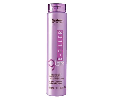 Dikson Кондиционер для ухода за волосами с комплексом Dulcemin LS 8594 Glam B-Filler Thickening Conditioner 250 млdiks2637Кондиционер используется после шампуня Bfiller Shampoo и дарит волосам всю пользу свойства гликопротеина Dulcemin®LS8594 из семян сладкого миндаля, обладающего интенсивными питательными и смягчающими свойствами. Предотвращает проблему секущихся кончиков. Glam Bfiller Conditioner рекомендуется использовать каждый раз после мытья шампунем. Активные компоненты: Dulcemin LS8594 (гликопротеин), миндаль. Результат: Благодаря пролонгированному увлажняющему эффекту, волосам возвращается естественная красота, они становятся плотными и шелковистыми, как никогда!