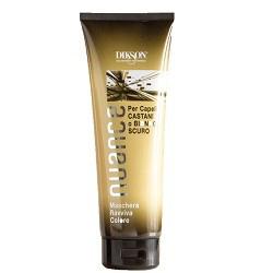 Dikson Nuance Оттеночная маска для коричневых и темно-русых волос Maschera Raviva Color for Brown and Dark Blond Hair 250 млdiks872Поддерживает стойкость цвета и усиливает блеск окрашенных, мелированных и натуральных волос. Без оксида, аммиака и п-фенилендиамина. Маска быстро и эффективно улучшает структуру, придает глянцевый блеск и делает волосы более послушными в укладке. Одновременно она тонирует волосы, делая цвет более ровным и красивым. Рекомендована для окрашенных и мелированных волос. Результат: Волосы приобретают насыщенный красный оттенок. Активные компоненты: Цетеариловый спирт, пропилен гликоль, кондиционирующее вещество, отдушка, смягчающее средство, консервант