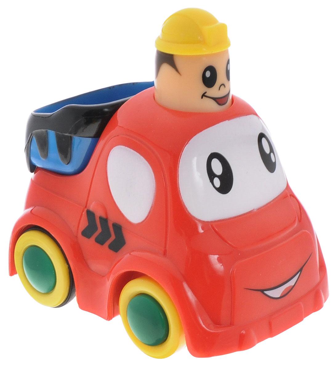 Simba Мини-машинка цвет красный4019516Мини-машинка Simba привлечет внимание вашего ребенка и надолго останется его любимой игрушкой. Плавные формы без острых углов, яркие цвета - все это выгодно выделяет эту игрушку из ряда подобных. Игрушка оснащена инерционным ходом. Необходимо нажать на голову фигурки и отпустить - и машинка быстро поедет вперед. Машинка развивает концентрацию внимания, координацию движений, мелкую моторику рук, цветовое восприятие и воображение. Малыш будет часами играть с этой игрушкой, придумывая разные истории.