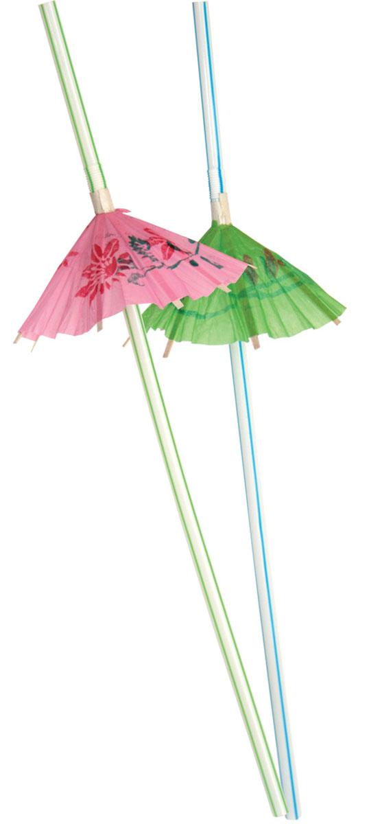 Action! Коктейльные трубочки Зонтики 12 шт 24 смAPI0110