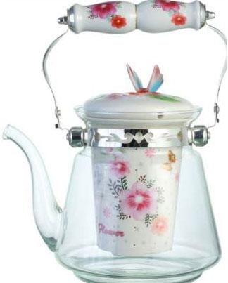 Чайник заварочный Bekker, цвет: цветы, 1,4 л. BK-7623BK-7623_цветыЧайник заварочный Bekker, цвет: цветы, 1,4 л. BK-7623