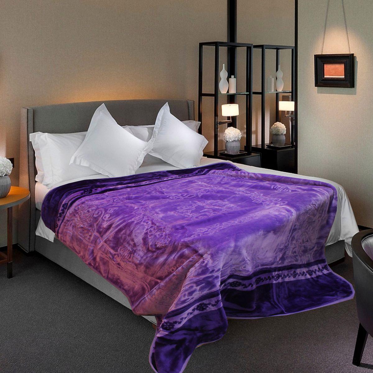 Плед TexRepublic, 160 х 220 см, цвет: фиолетовый67243
