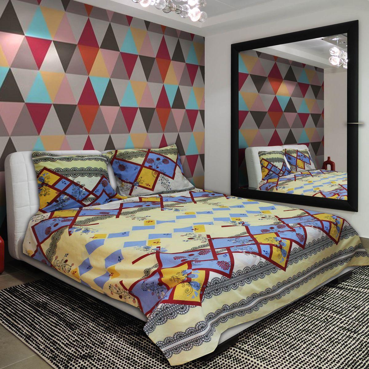 Комплект белья Amore Mio Geo, 1, 5-спальный, наволочки 70 х 70