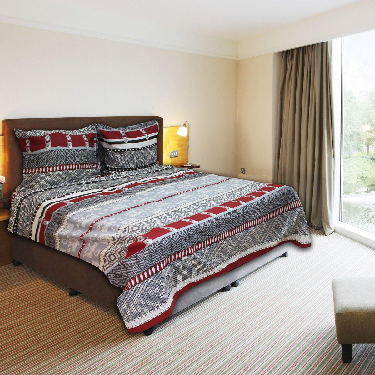 Комплект белья Amore Mio Cage GY, 1,5-спальный, наволочки 70х7077705Постельное белье из бязи практично и долговечно, а самое главное - это 100% хлопок! Материал великолепно отводит влагу, отлично пропускает воздух, не капризен в уходе, легко стирается и гладится. Новая коллекция Naturel 3-D дизайнов позволит выбрать постельное белье на любой вкус!