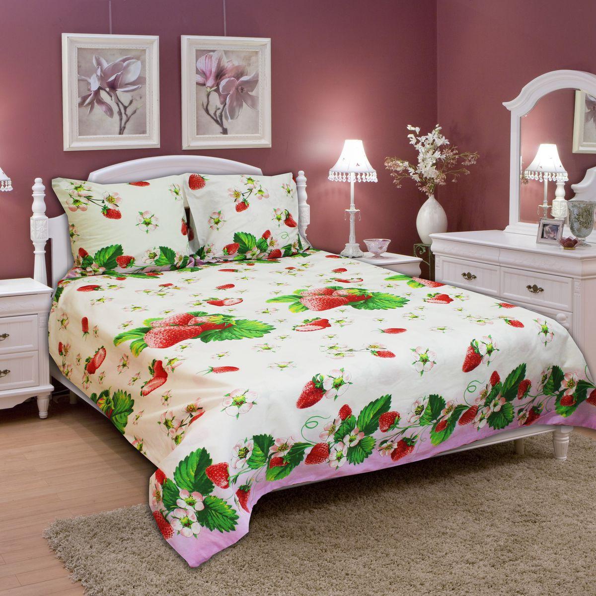 Комплект белья Amore Mio Strawberry, 2-спальный, наволочки 70х7077710Постельное белье из бязи практично и долговечно, а самое главное - это 100% хлопок! Материал великолепно отводит влагу, отлично пропускает воздух, не капризен в уходе, легко стирается и гладится. Новая коллекция Naturel 3-D дизайнов позволит выбрать постельное белье на любой вкус!