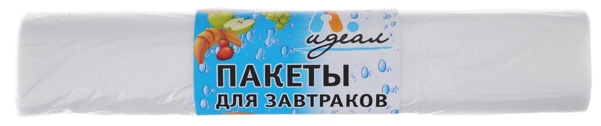 Пакеты для завтраков Идеал, 100 штТДД25138Пакеты Идеал, изготовленные из полиэтилена, идеально подходят для упаковки завтраков в школу, на работу и загородные поездки. Размер пакетов: 25 х 32 см.