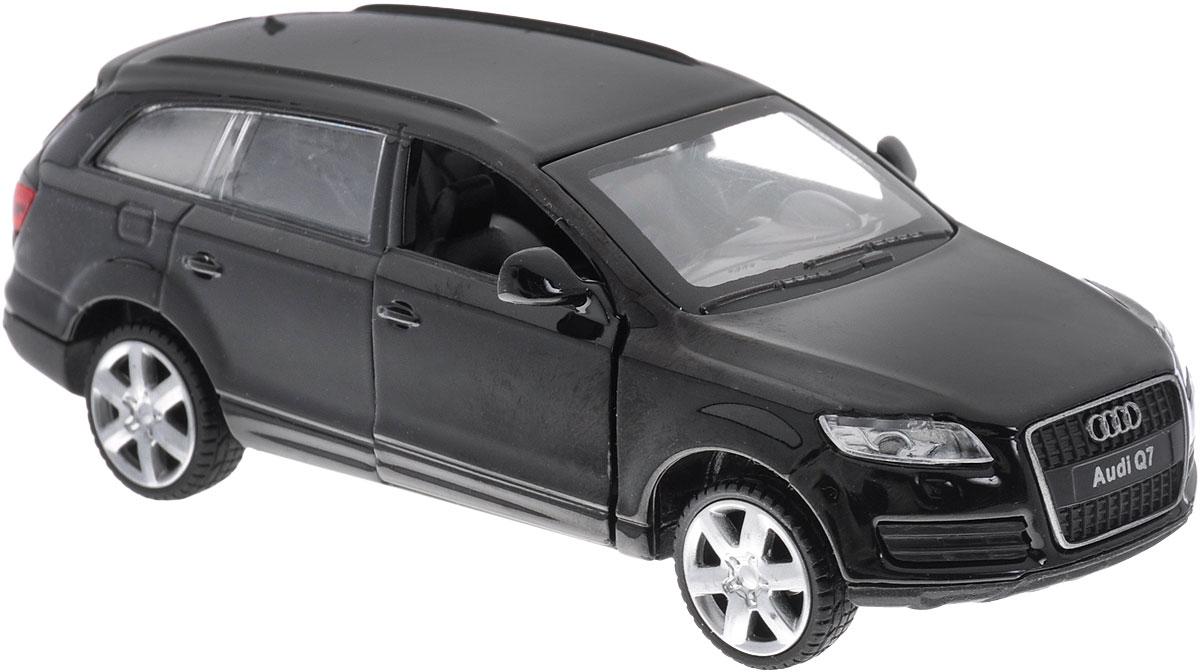MSZ Модель автомобиля Audi Q7 цвет черныйCP-67305-BLИнерционная модель автомобиля Audi Q7, выполненная из высококачественного металла и пластика, непременно понравится и ребенку, и взрослому. Это точная копия оригинала в масштабе 1:38. Модель является точной уменьшенной копией известного автомобиля марки Audi. Игрушечная модель оснащена литым металлическим корпусом и вращающимися колесами из резины. Передние двери машинки открываются, салон детализирован. Игрушка оснащена инерционным ходом. Для того, чтобы автомобиль поехал вперед, необходимо его отвести назад, а затем резко отпустить. Прорезиненные колеса обеспечивают надежное сцепление с любой поверхностью пола. Машинка является отличным подарком для юного гонщика. Во время игры с такой машинкой, у ребенка развивается мелкая моторика рук, фантазия и воображение.
