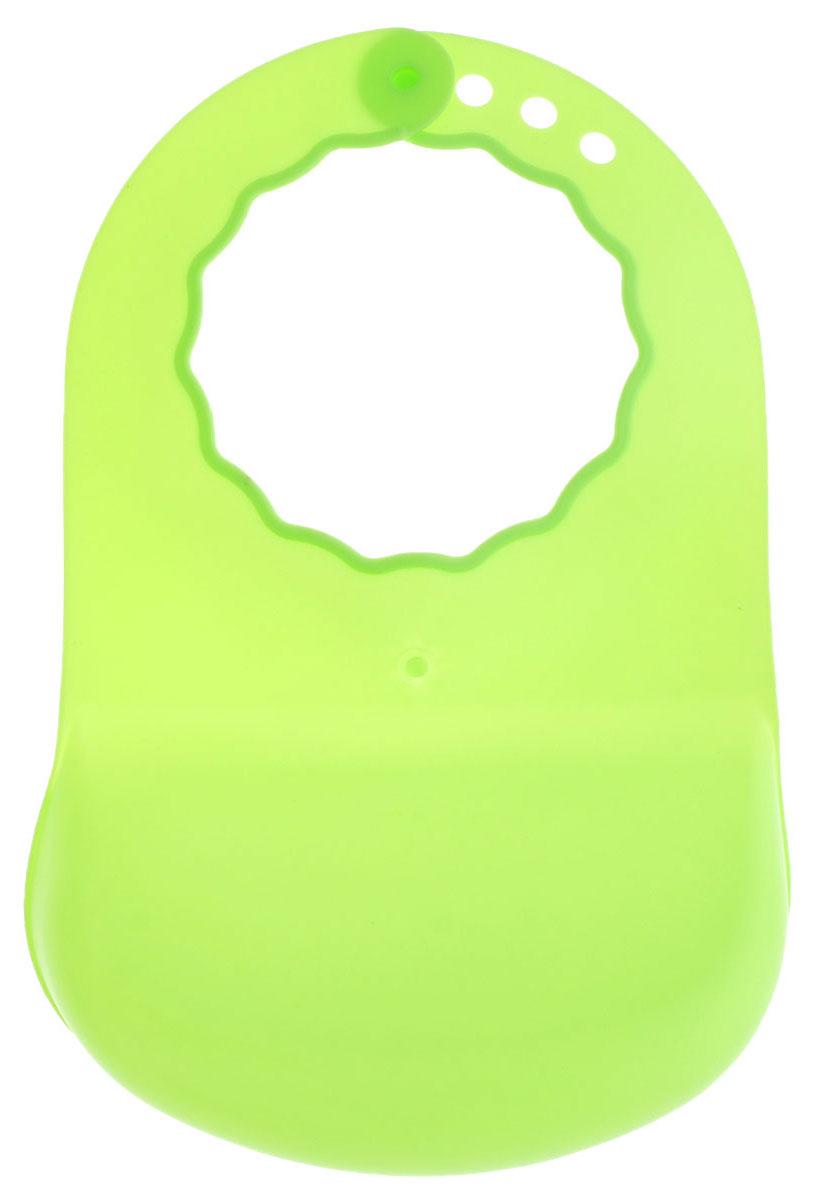 Курносики Слюнявчик пластиковый цвет салатовый