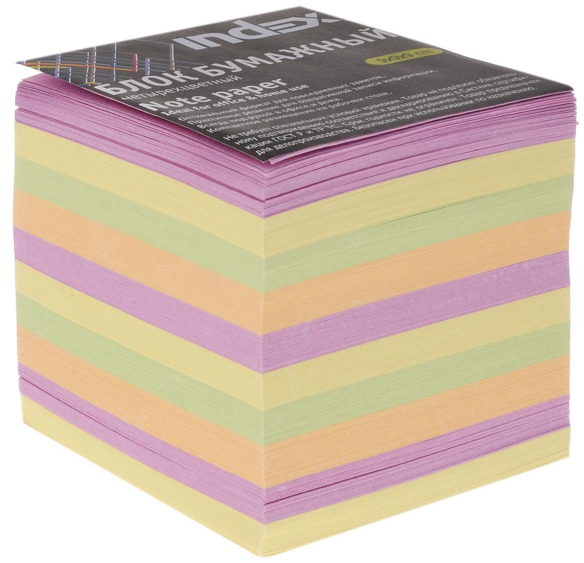 Index Блок для записей многоцветный цвет желтый сиреневый зеленый оранжевый