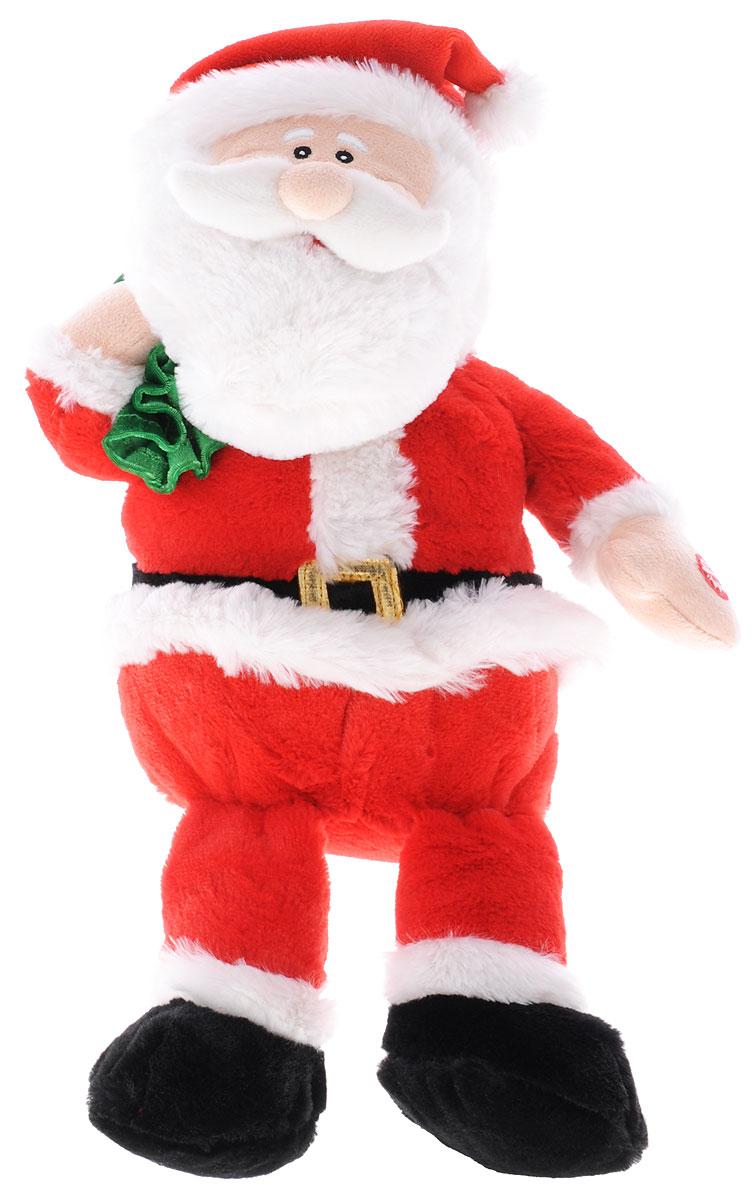 Sonata Style Мягкая озвученная игрушка Санта Клаус 30 смY1208830Мягкая озвученная игрушка Sonata Style Санта Клаус вызовет улыбку у каждого ребенка, кто ее увидит! Она выполнен в виде всем известного, самого новогоднего персонажа - Санта Клауса. Одет он в красный костюм и колпак, на плече держит зеленый мешок с подарками. Игрушка подарит своему обладателю хорошее настроение и позволит насладиться обществом любимого героя. Игрушка работает от незаменяемых батареек.